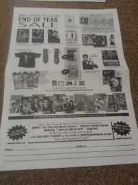 Back of old fan club catalogue